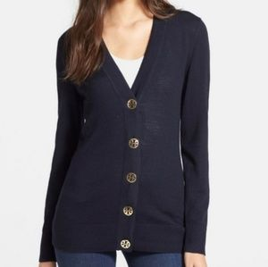 Tory Burch Simone Merino Wool Cardigan size M